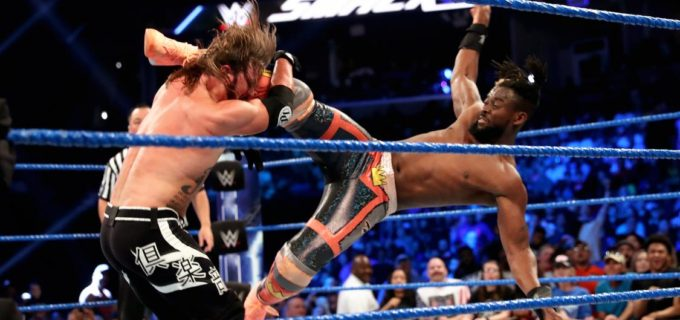 【WWE】キングストンがスタイルズ退けて王者対決制す!