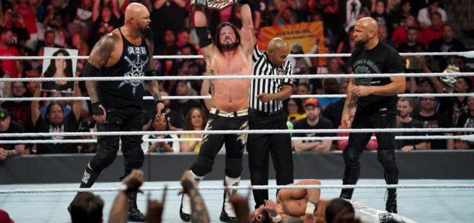【WWE】AJスタイルズがリコシェを下してUS王座奪取