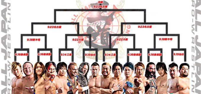 【全日本】<第7回 王道トーナメント>9月14日三条大会より開幕する 「第7回 王道トーナメント」出場選手、 1回戦組み合せ決定!