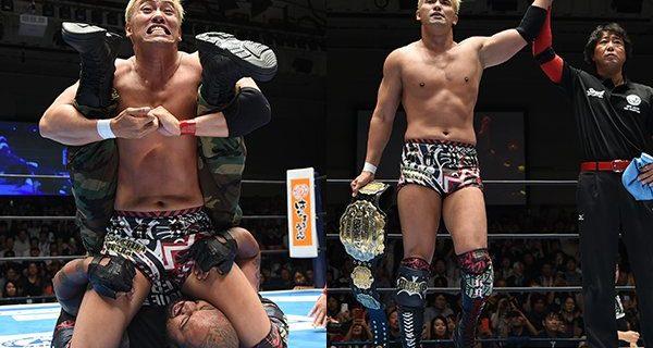 【新日本】<Aブロック公式戦!>オカダが無法ファイトのファレから逆転勝利!