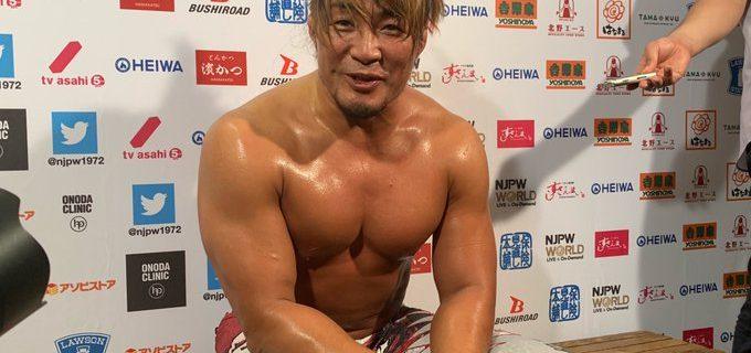 """【新日本】<バックステージコメントも続々アップ!>ザックにレスリングで快勝の棚橋 「ひょっとしたら、ストロングスタイルは""""海の向こう""""に生きているかもしれない」"""