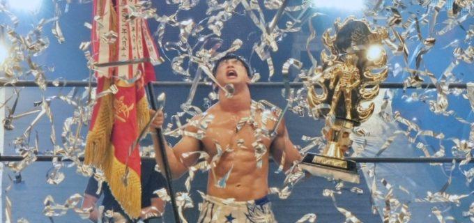 【新日本】日本武道館が歓喜に包まれる!飯伏幸太がジェイ・ホワイトとの大激戦を制し、念願のG1 CLIMAX初優勝!