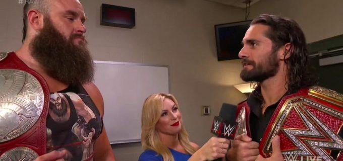 【WWE】ロリンズとストローマンはユニバーサル王座戦、ロウタッグ王座戦の2連戦!