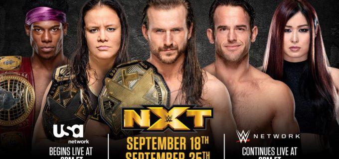 【WWE】9月と10月の「NXT」配信に関して詳細を発表