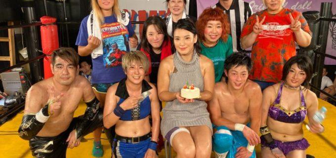 【YMZ】9・28西新井<試合結果>志田光YMZラストコスプレマッチは「童貞を殺すセーター」!バースデーケーキ争奪椅子取りゲームも制す!