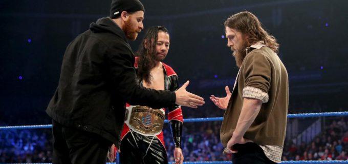 【WWE】中邑真輔&サミ・ゼインがダニエル・ブライアンを仲間に勧誘