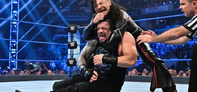 【WWE】中邑が2連戦!レインズ相手に王座防衛もタッグ戦で敗退!
