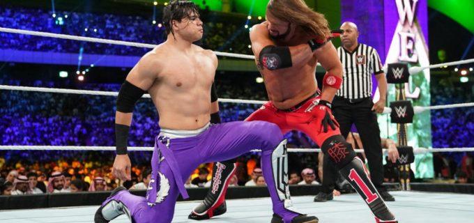 【WWE】AJスタイルズがバトルロイヤル勝者カリーヨを撃破