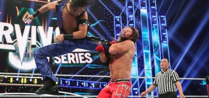 【WWE】中邑とスタイルズが激闘もストロングがフォール横取り