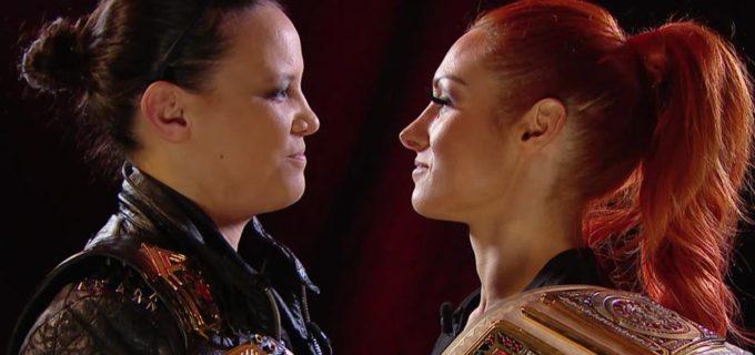 【WWE】WWE3大女子王者の対戦が決定!ベッキーとシェイナが一触即発!