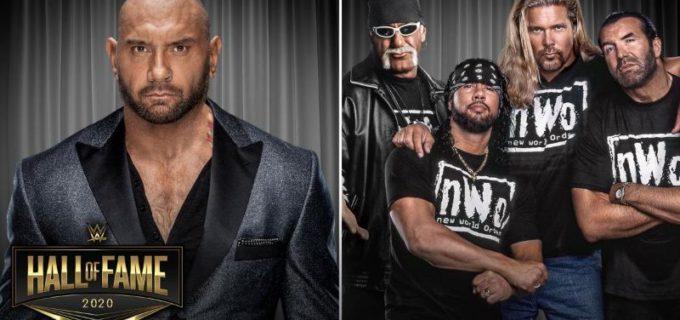 【WWE】バティスタとnWoが2020年WWE殿堂入り決定