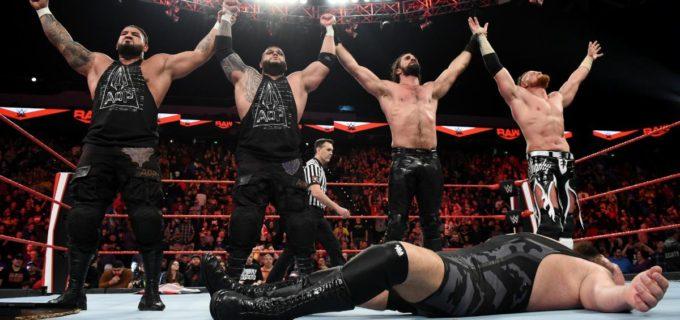 【WWE】セス・ロリンズ&AOPがフィストファイト戦でビック・ショーに仕返し