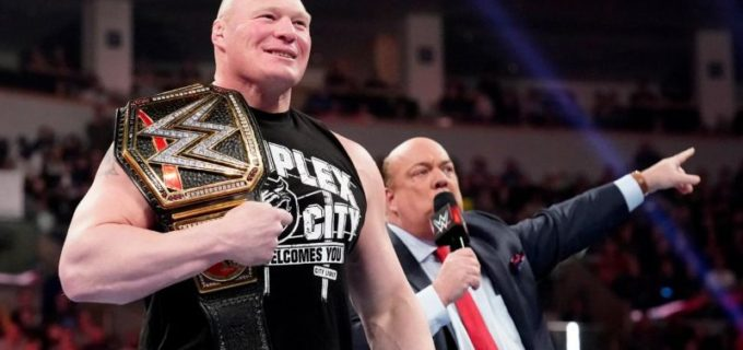 【WWE】WWE王者レスナーが王座挑戦者リコシェとマッキンタイアを挑発!