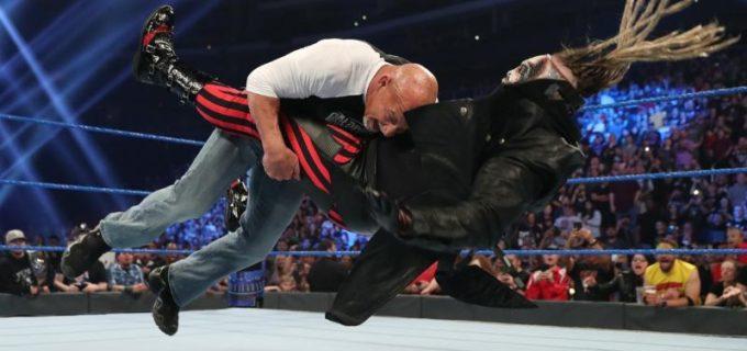 """【WWE】ゴールドバーグが王座戦を前に""""ザ・フィーンド""""にスピアー炸裂"""