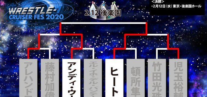 【W-1】< CRUISER FES 2020>アンディ・ウー選手、ヒート選手が決勝進出  2月12日の後楽園ホール大会にてついにクルーザーフェス優勝者が決定する  果たして・・・