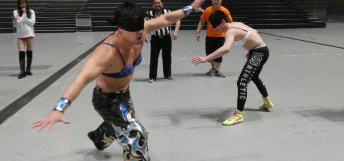 【DDT】3.11 さいたまスーパーアリーナ DDT EXTREME級選手権は目隠し乳隠しデスマッチ!HARASHIMAvs青木真也が広大な敷地で異次元のブラ取り合戦