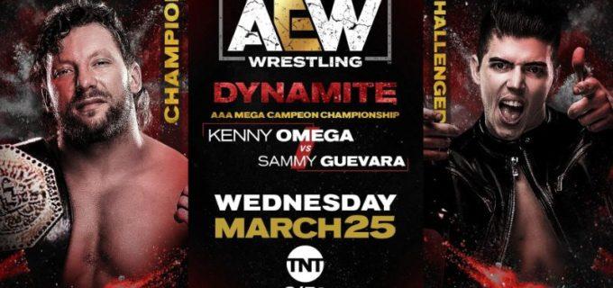 【AEW】3.25 AEWダイナマイト<全試合結果>ケニー・オメガがサミー・ゲバラを相手にAAAメガ王座防衛戦!元WWEスーパースターのブロディ・リー快勝!マット・ハーディがジェリコを火柱で追い払う