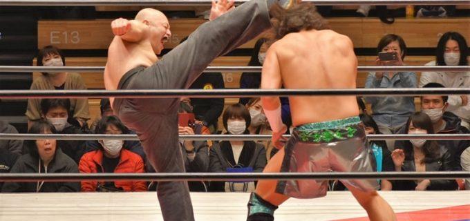 【大日本】菊田の右ハイでジェイクが撃沈!『大日本ナメんじゃねぇって。俺もいるぞ』