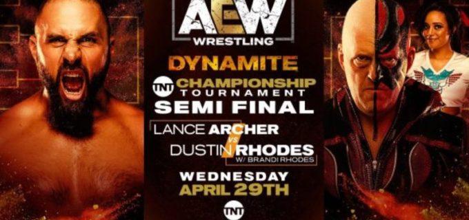 【AEW】4.29 AEWダイナマイト<全試合結果>TNT王座決定トーナメントの準決勝!優勝決定戦に進んだのはコーディとランス・アーチャー