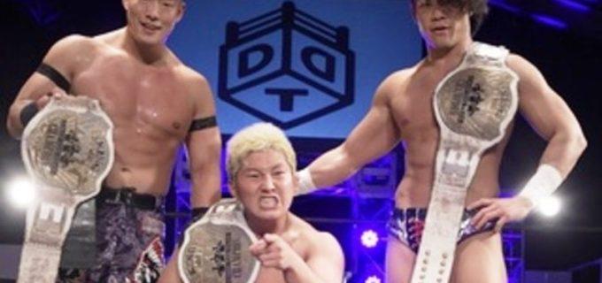 【DDT】KO-D6人タッグ王座初Vのダムハーツがタッグ王座獲りを視野に入れた!