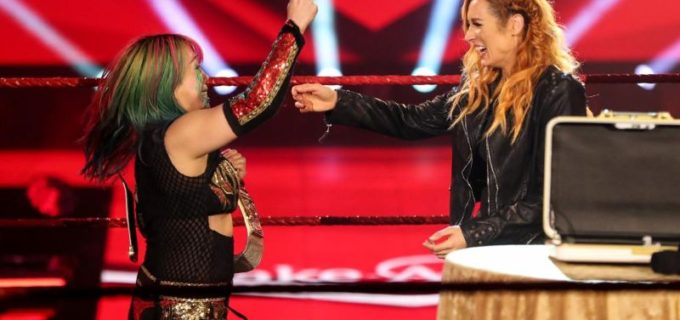 【WWE】ベッキーが妊娠発表で王座返上!アスカがロウ女子王座初戴冠でグランドスラム達成!カブキウォリアーズも歓喜の声