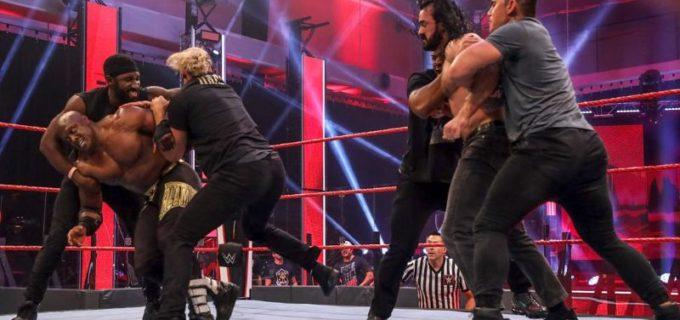 【WWE】王者マッキンタイアがラシュリーを襲撃して大乱闘