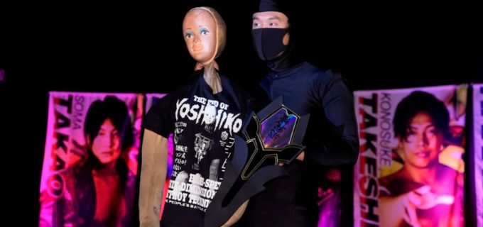 【DDT】オールアウトを付け狙う人形のヨシヒコに対し、怒りの彰人が一騎打ちを通告!
