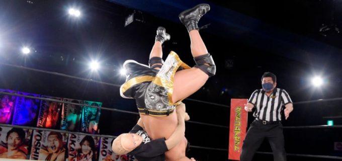 【DDT】執ようにオールアウトを襲撃する人形ヨシヒコに勝俣瞬馬がハードコア戦を要求!