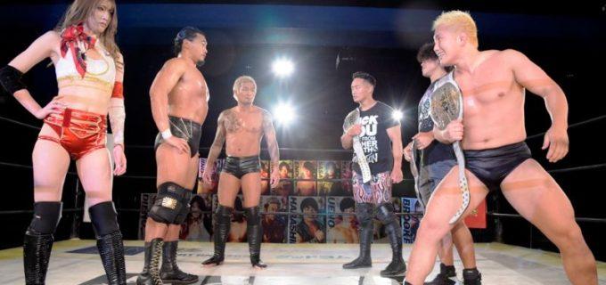 【DDT】樋口・坂口・赤井の「イラプション」が6.20新宿で「ダムハーツ」が保持するKO-D6人タッグ王座に挑戦!