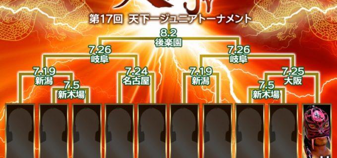 【ZERO1】7.5(日)新木場にて開幕!『天下一ジュニアトーナメント』を緊急開催!
