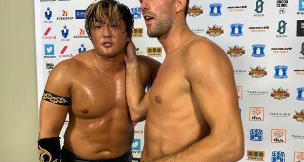 【新日本】タイチ「オイ、2人とも、ただのワン・ツー・スリー、ギブアップじゃねえぞ。破壊だ。破壊だ、破壊だ、コラ。あの2人、ぶっ壊してやる」
