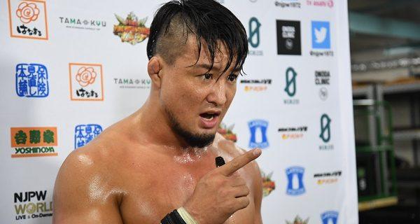 【新日本】SHO「NEVER獲ったら、闘いたいヤツ、先輩、後輩、関係ねぇ! いっぱいいるんだ。だからこそ! 明日は必ず獲る」