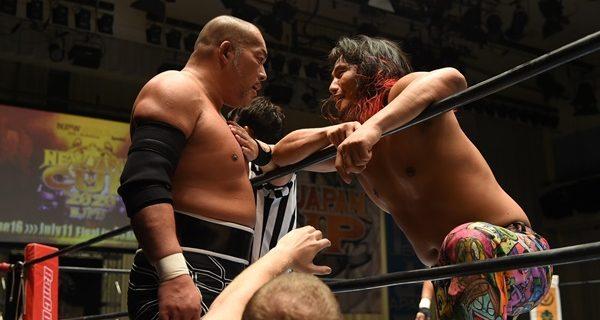 【新日本】『NJCUP』石井とヒロムが前哨戦で火花!ヒロム「ジュニアもヘビーも関係ねえんだろ? 見してやるよ、俺の気持ち。真っ向勝負だ、バカ野郎」