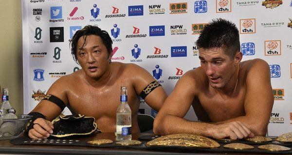 【新日本】タイチ「俺らが新日本プロレス率いてやる。これから始まりだ。このベルトが中心になるかもれねえな」