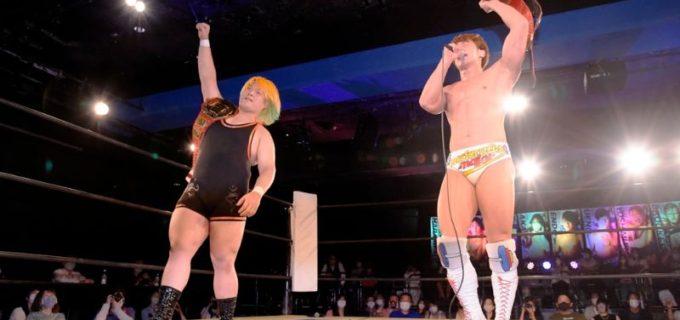 【DDT】KO-D無差別級王座に挑戦の上野勇希、前哨戦で王者組を破り、ベルト奪取を誓った!