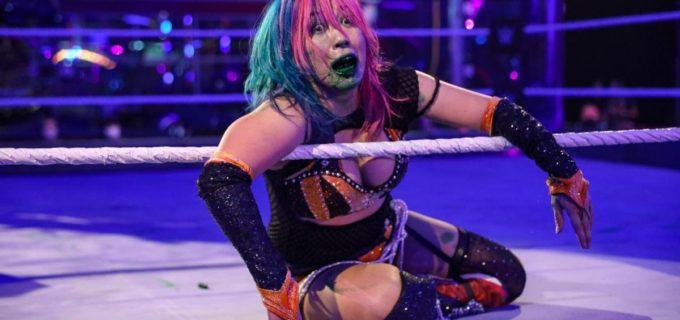 【WWE】ロウ女子王座戦は大混乱!アスカがベイリーの介入で疑惑の王座陥落
