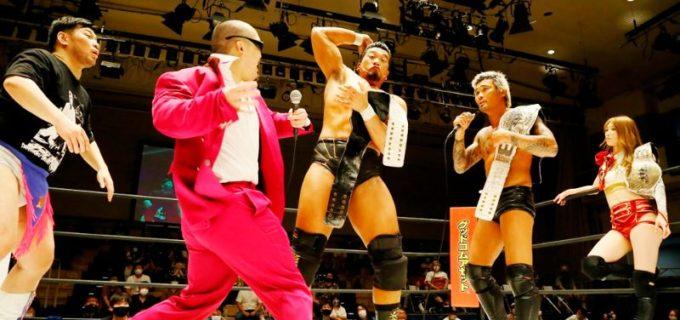 【DDT】樋口&坂口&赤井の「イラプション」がKO-D6人タッグ王座V1!次期挑戦者はディーノ&立花&世志琥
