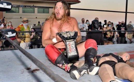【DDT】アイアンマンヘビーメタル級王者のヨシヒコがGCW Homecoming Weekend PART1でジョーイ・ジャネラにベルトを奪われる!ジャネラ「これは俺の日本行きの金のチケット」