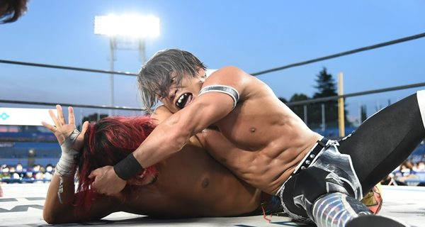 【新日本】IWGPジュニアは真っ向勝負で石森がヒロムを撃破し、二度目の戴冠!<8.29神宮大会>