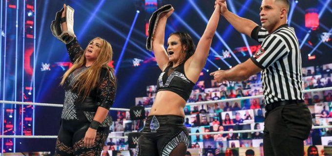 【WWE】ベイリー&サーシャが王座陥落!ナイア&シェイナが新WWE女子タッグ王者に