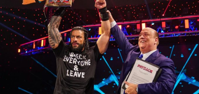 【WWE】レインズが卑怯な途中出場でユニバーサル王座に返り咲き