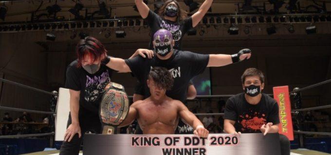 【DDT】遠藤哲哉がT-Hawkとの激戦を制して『KING OF DDT 2020』優勝、次期挑戦者にケニー・オメガを指名!竹下幸之介が秋山準にシングルマッチを要求!ハラシマルフジvsシーマソーマが11.3大田区で決定!8.23後楽園ホール<全試合結果>