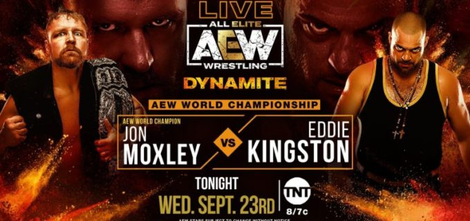 【AEW】9.23 AEWダイナマイト<全試合結果>AEW世界王座をモクスリーがエディ・キングストンから防衛!TNT王座をブロディ・リーがオレンジキャシディから防衛!女子タッグで志田光が勝利