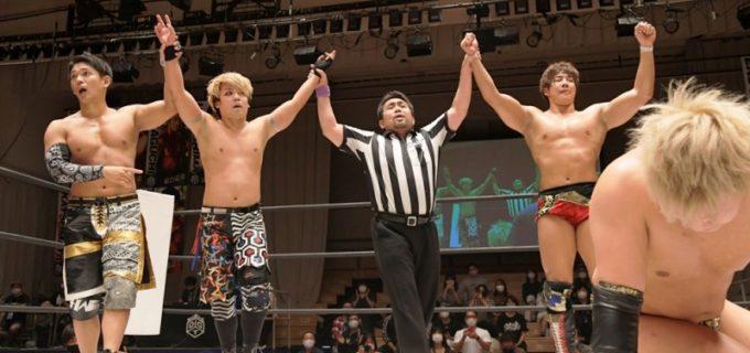 【DDT】3vs3綱引き戦は「オールアウト」が「準烈」に勝利!秋山準、竹下幸之介は11.3大田区での一騎打ちに向け、いよいよ臨戦態勢!