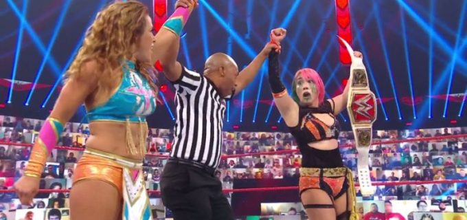【WWE】タッグ戦に勝利したアスカ&ミッキーが次週ロウ女子王座戦で激突