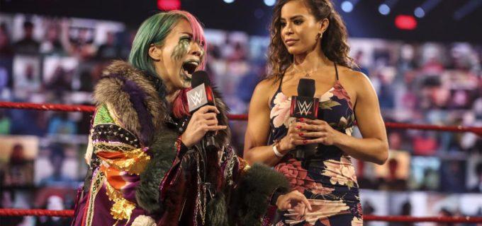 【WWE】王者アスカが「カモンカモン!こいや」とミッキーと挑発合戦