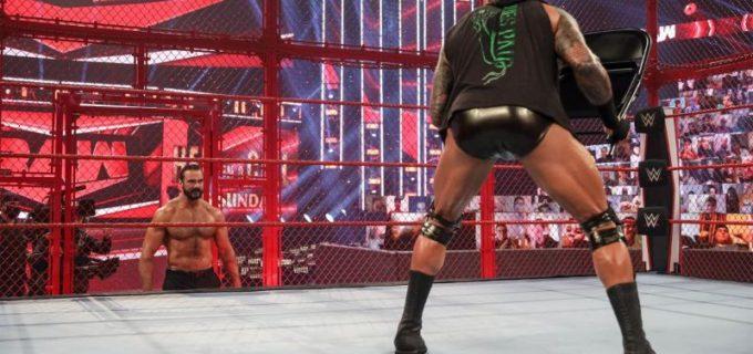 """【WWE】王者マッキンタイアと""""毒蛇""""オートンが王座戦を前にヘル・イン・ア・セルで対峙"""