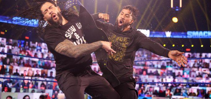 "【WWE】レインズが挑戦者ジェイに""アイ・クイット""戦での一族追放を予告"