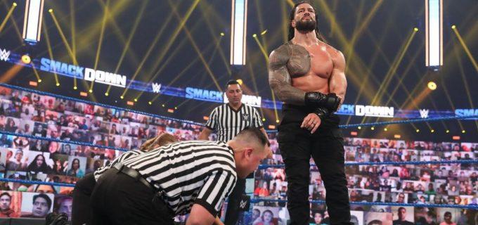 """【WWE】王者レインズが""""巨獣""""ストローマン、従兄弟ジェイを失神KO"""