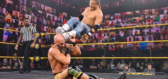 【WWE】KUSHIDAが強豪トマソ・チャンパを追い詰めるもベルベティーン・ドリームが乱入